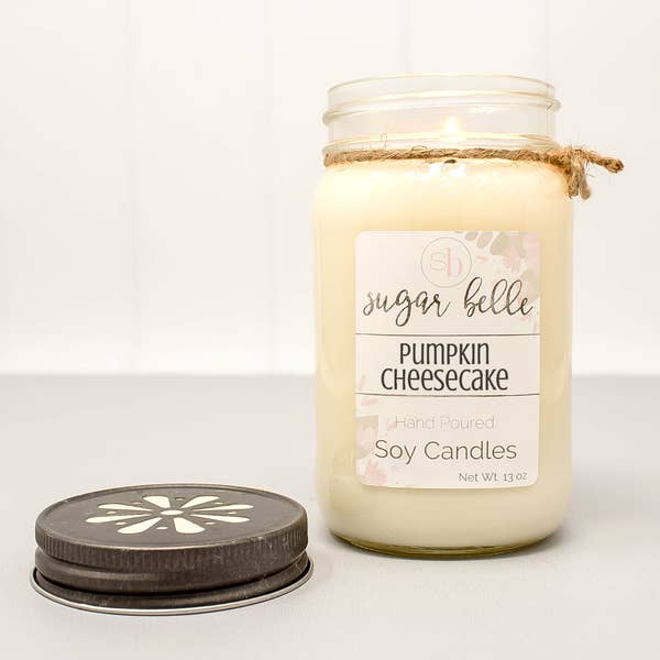 Pumpkin Cheesecake Mason Jar Soy Candle 16 oz