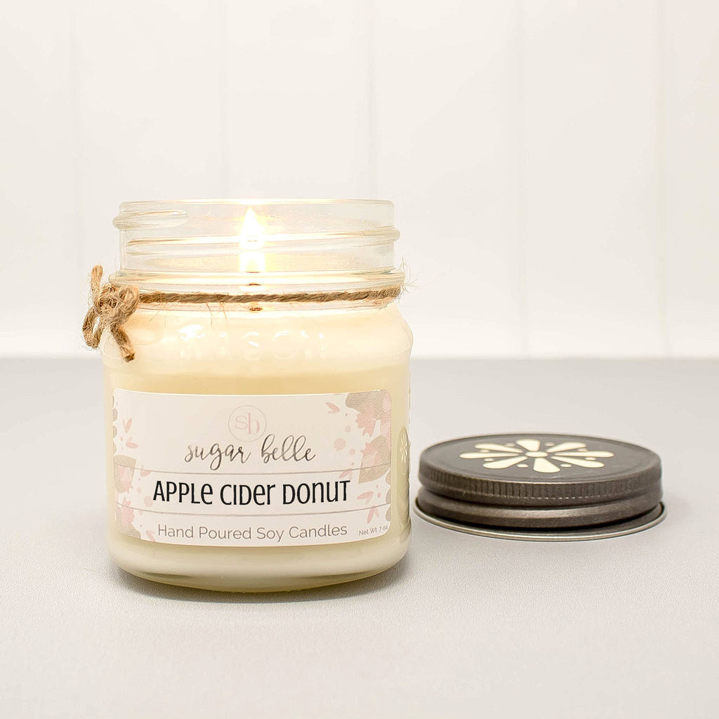 Apple Cider Donut Mason Jar Soy Candle 8oz
