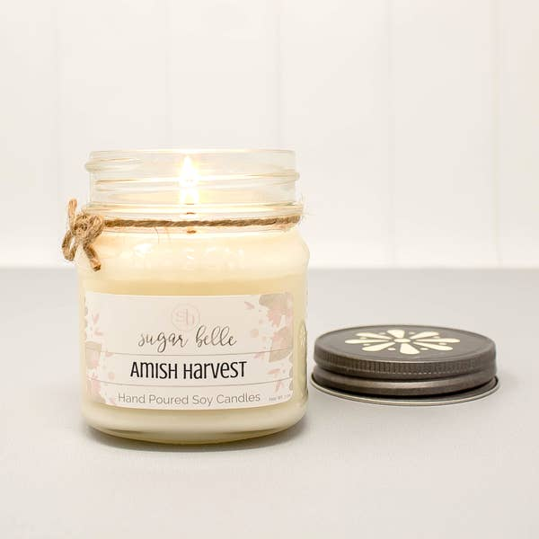 Amish Harvest Mason Jar Soy Candle 8oz