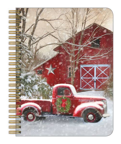 Christmas Truck Spiral Notebook - Medium
