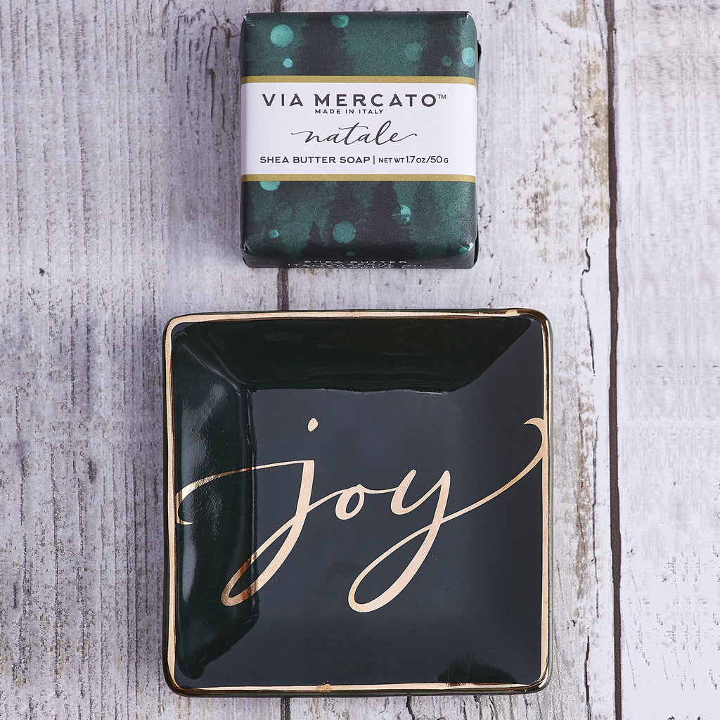Joy Natale Soap & Trinket Set - Charlie James & Company