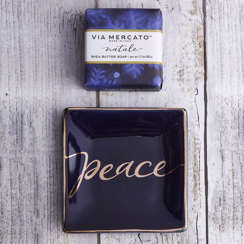 Peace Natale Soap & Trinket Set - Charlie James & Company