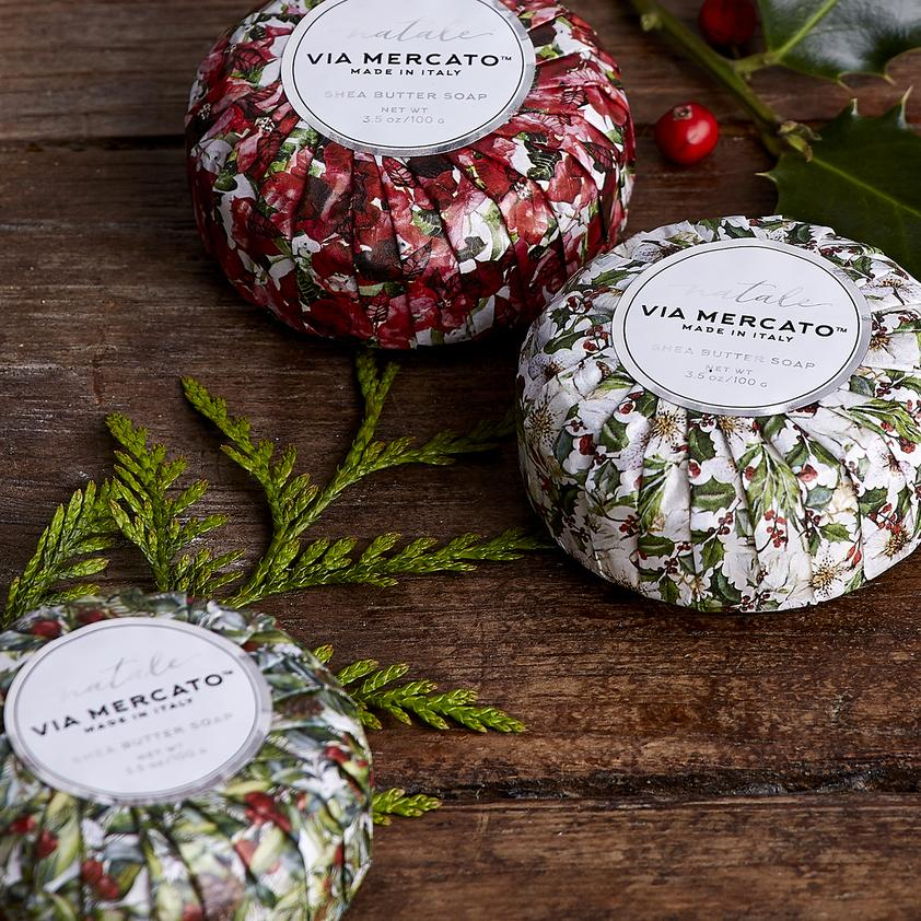 Natale Via Mercato Italian Holiday Soaps - Choose One - Charlie James & Company