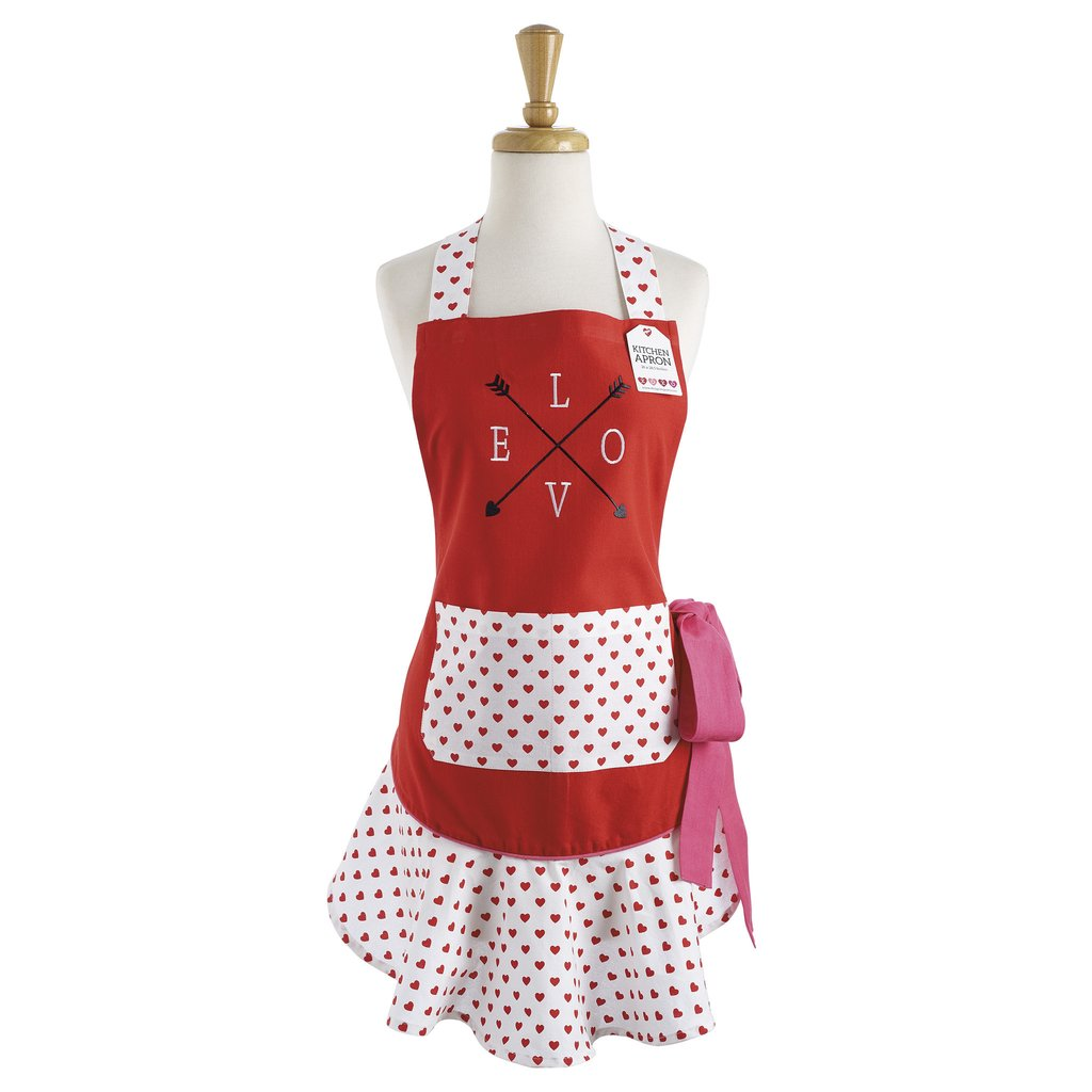 Love Struck Ruffle Apron - Charlie James & Company