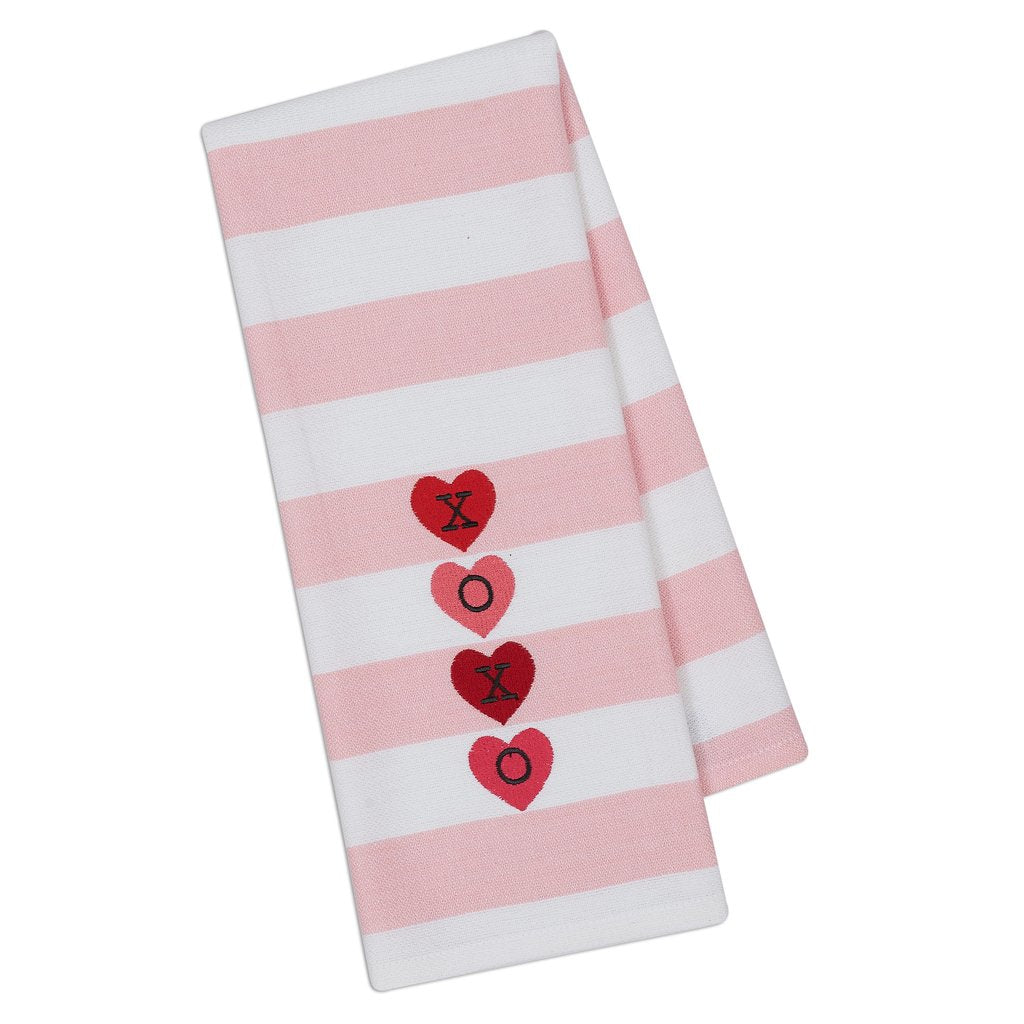 XOXO Valentine's Day Dishtowel