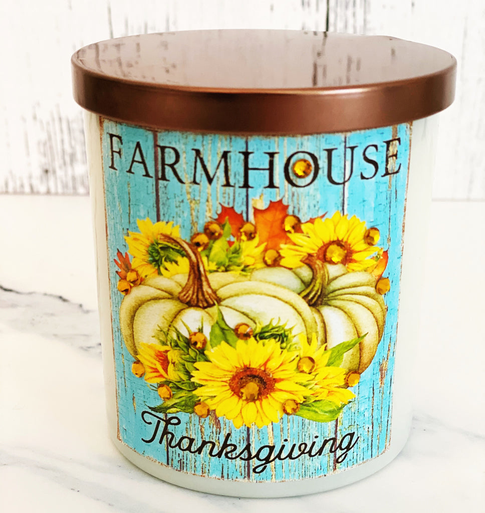 Farmhouse Thanksgiving Candle - Autumn Bounty