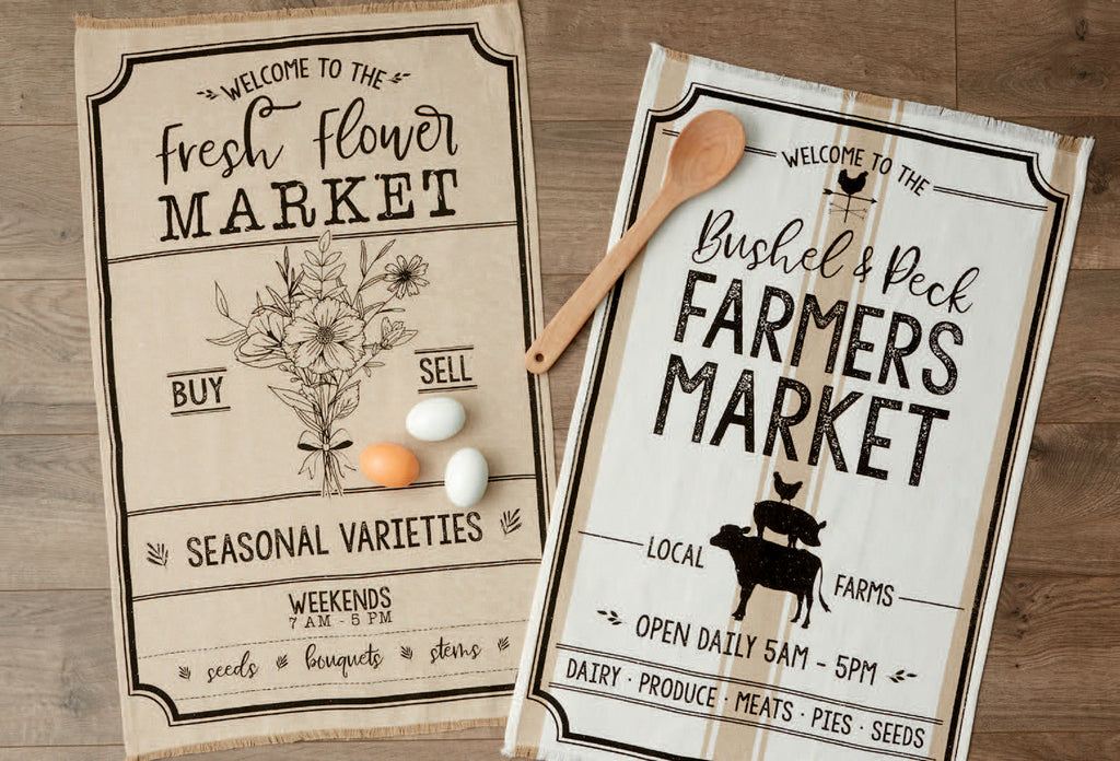 Farmhouse Market Dishtowels - Choose One