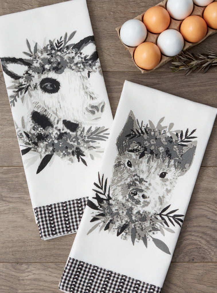 Farm Animal Dishtowels - Choose One