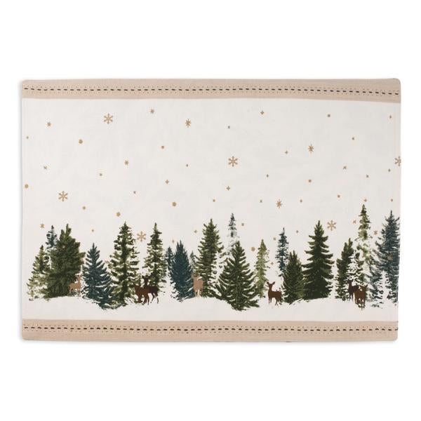 Winter Wonderland Reversible Placemat Set of 4
