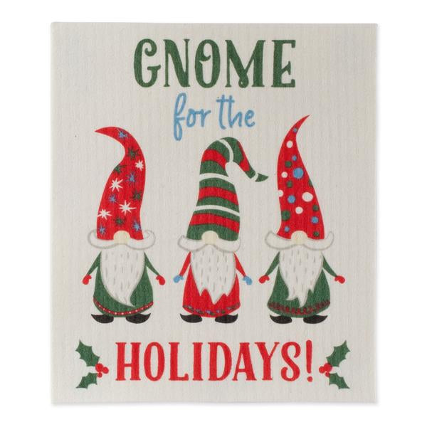 Gnome Holidays Swedish Dishcloth