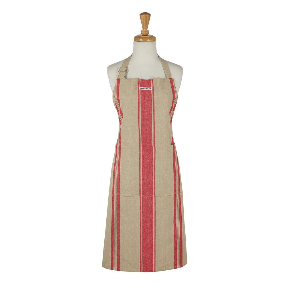 French Red Stripe Apron - Charlie James & Company