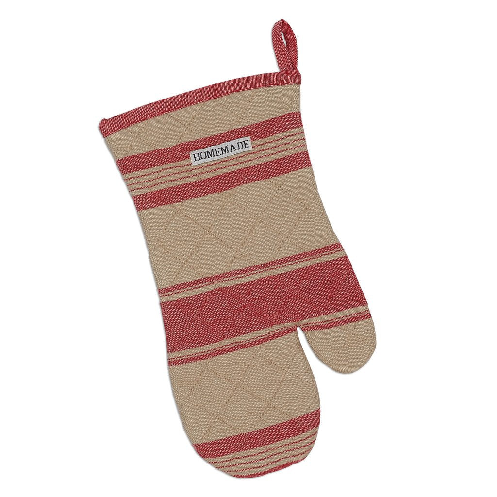 French Red Stripe Oven Mitt - Charlie James & Company
