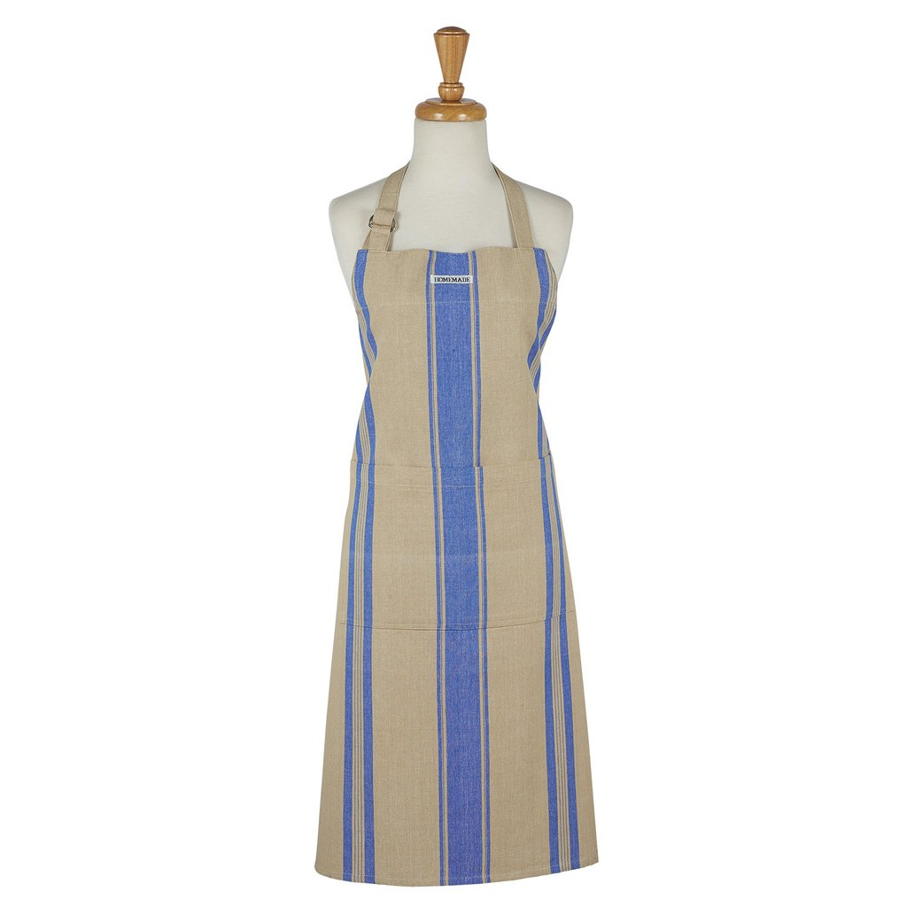 French Blue Stripe Apron - Charlie James & Company