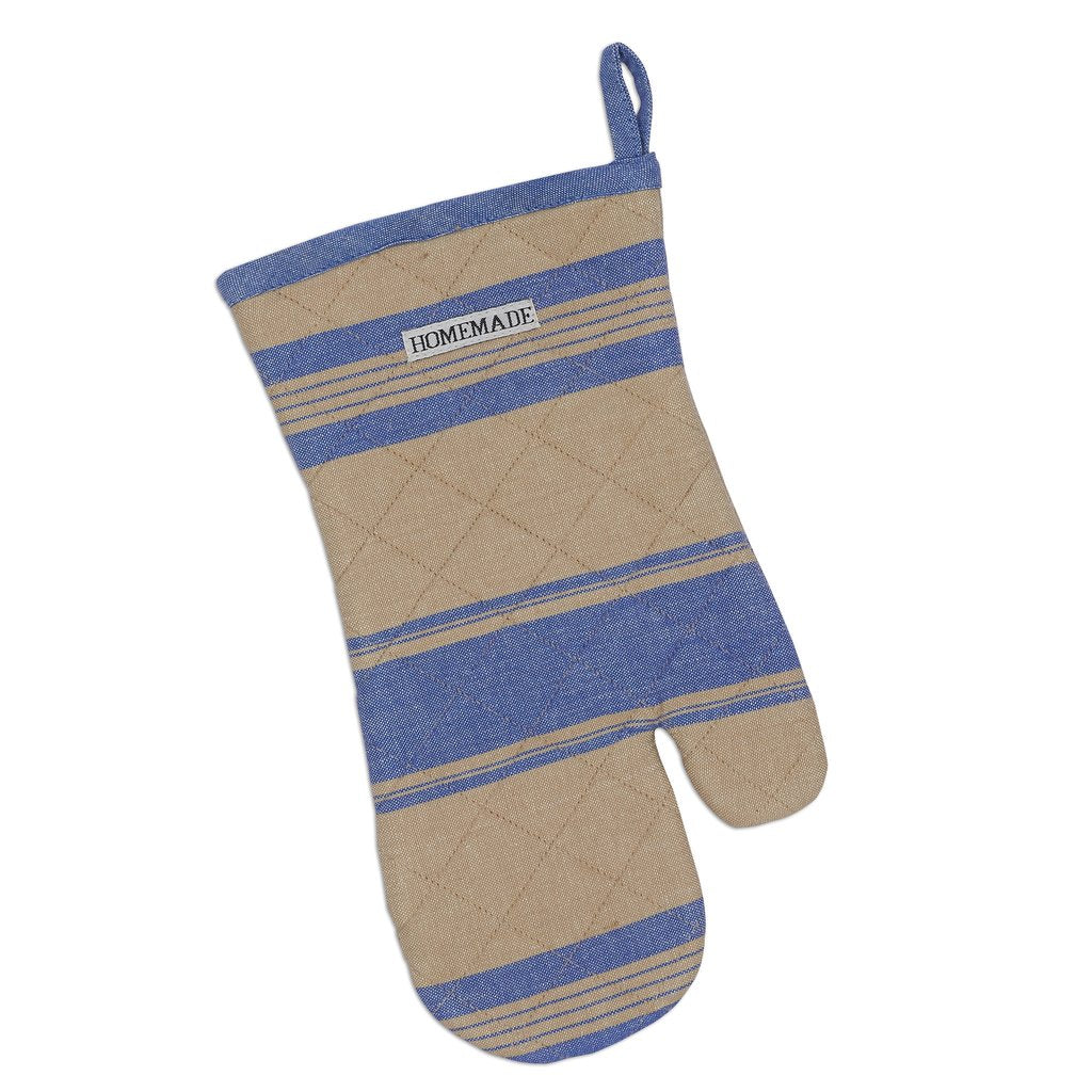 French Blue Stripe Oven Mitt - Charlie James & Company