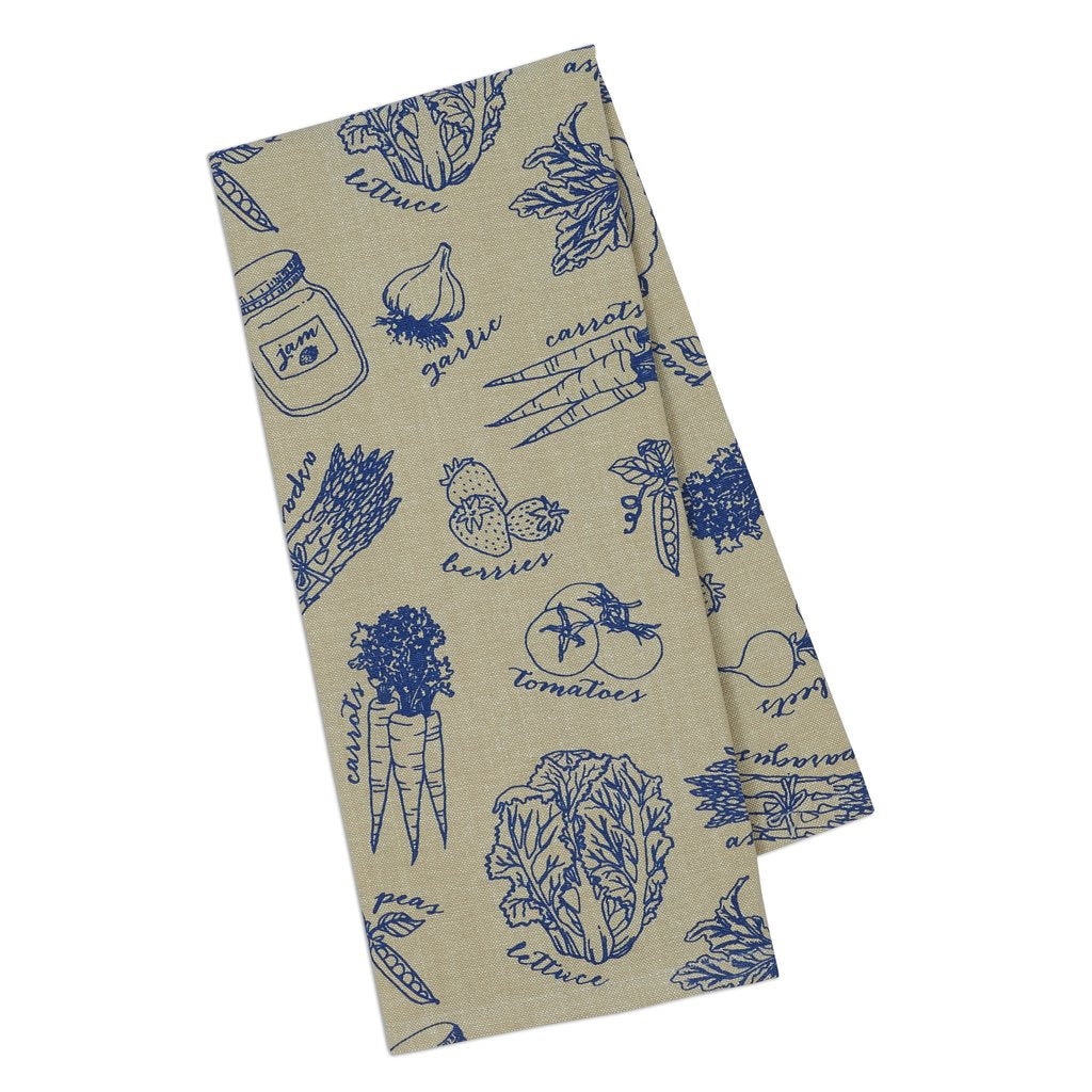 French Blue Market Dishtowel Set of 3 - Charlie James & Company