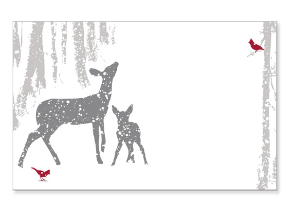 Woodland Frost Holiday Card