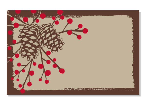 Pine Cones & Berries Holiday Card - Charlie James & Company