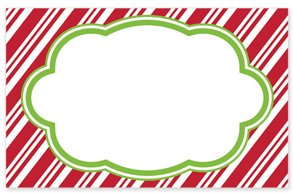 Candy Cane Stripes Holiday Card - Charlie James & Company