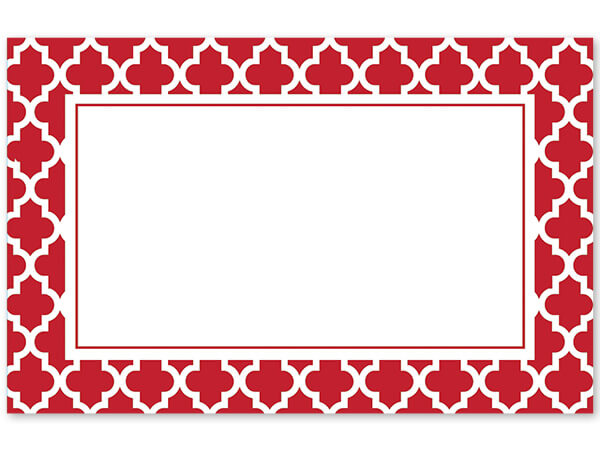 Red & White Design Greeting Card - Charlie James & Company