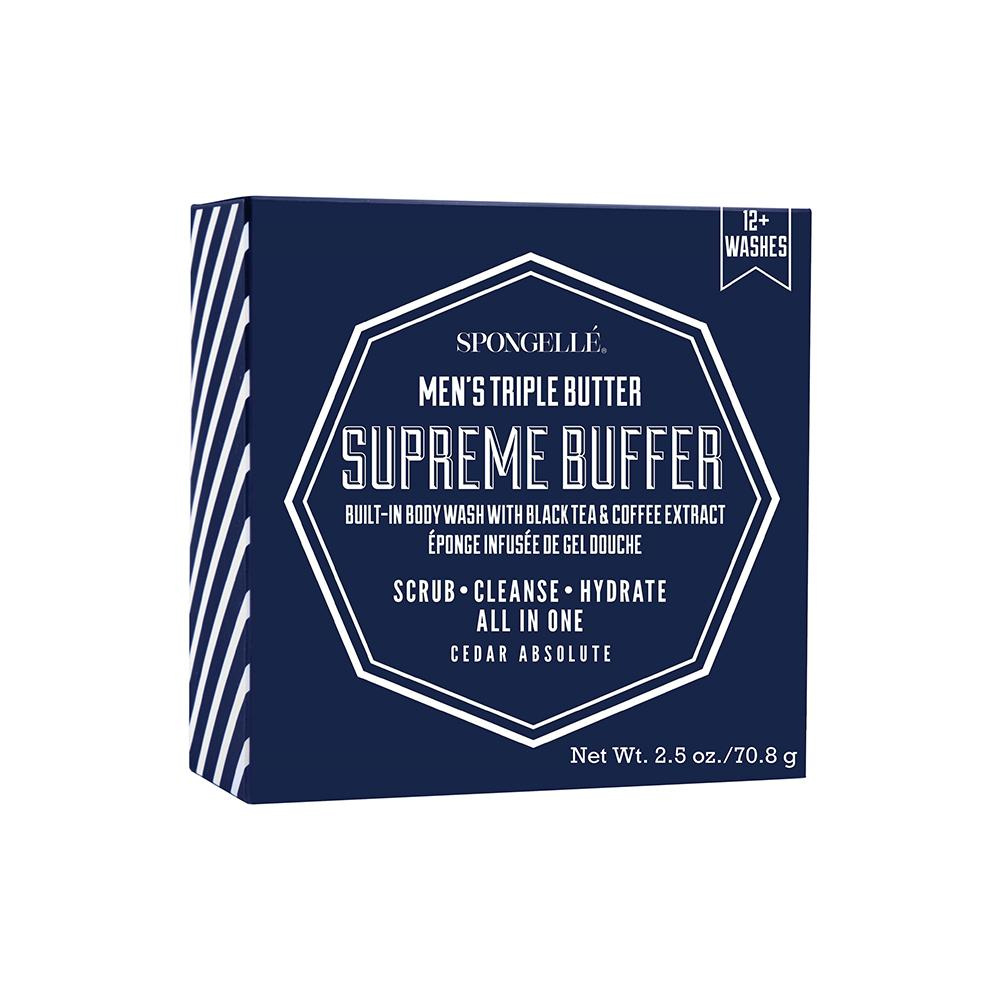 Spongellé Men's Supreme Buffer in Cedar Absolute 12+ Washes - Charlie James & Company