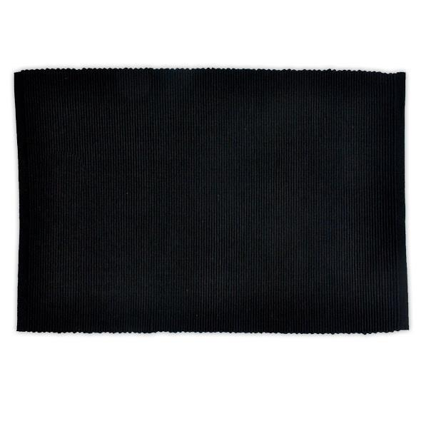 Black Ribbed Placemat Set of 4 - Charlie James & Company