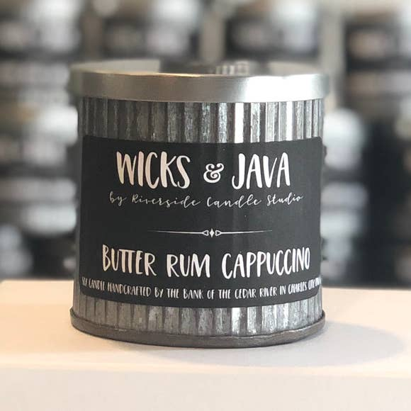Butter Rum Cappuccino Rustic Candle - Charlie James & Company