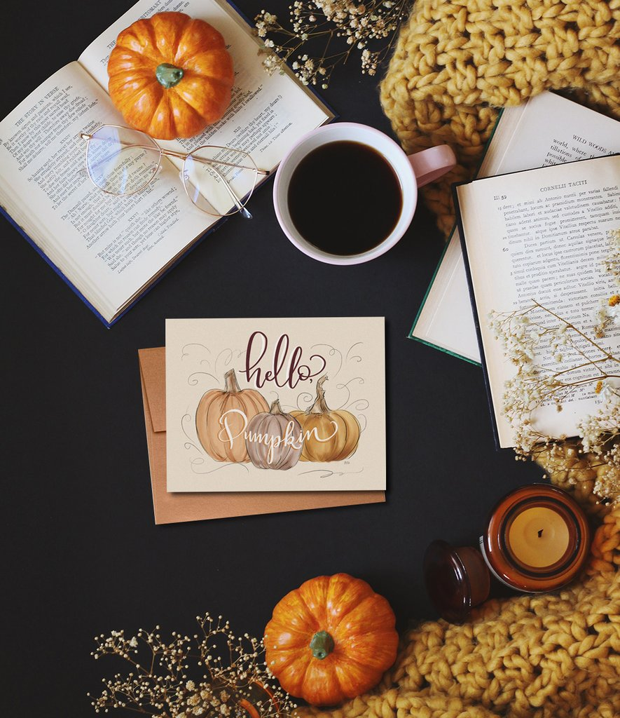Hello Pumpkin Greeting Card