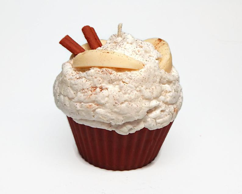 Cinnamon Apple Cupcake Candle