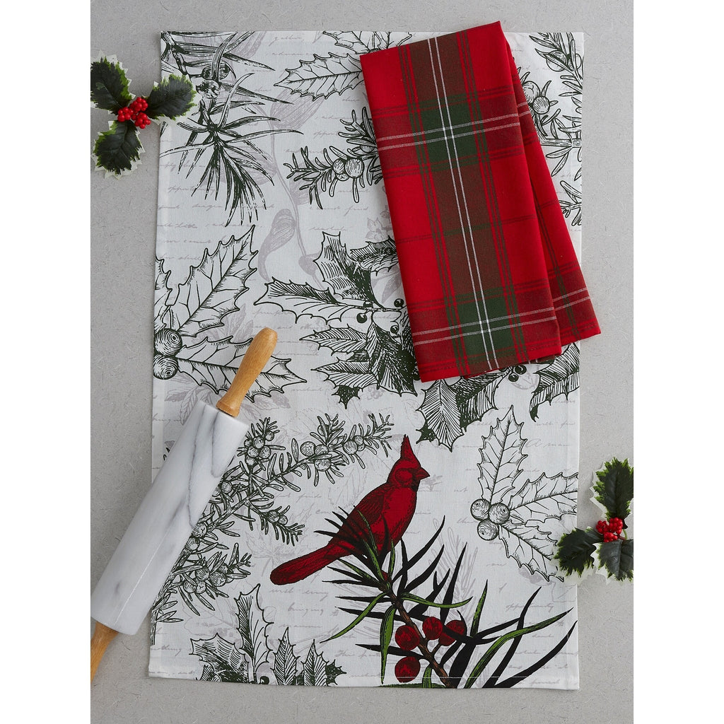Holiday Botanical Tree Dishtowel Set - Charlie James & Company