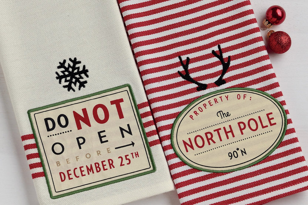 The North Pole Dishtowel