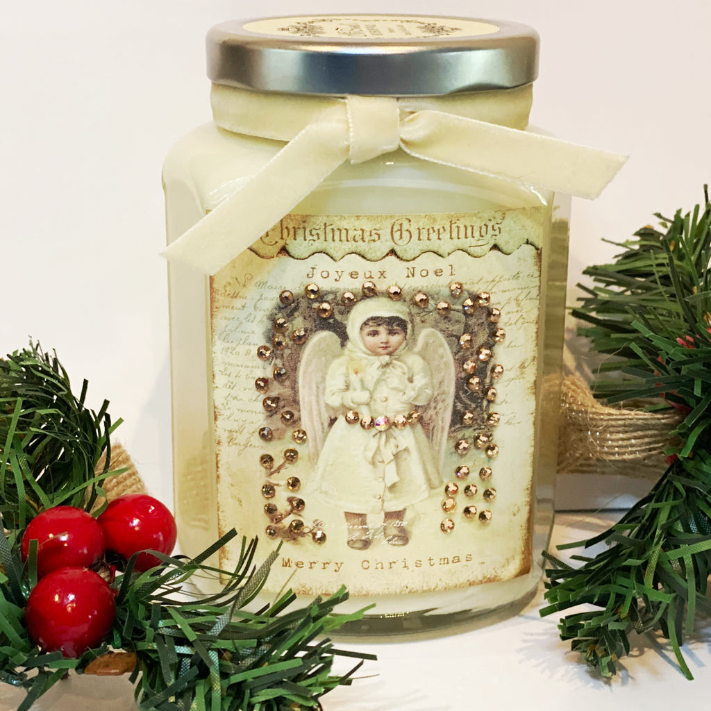 Snow Angel Candle in Streudel Spice Cake