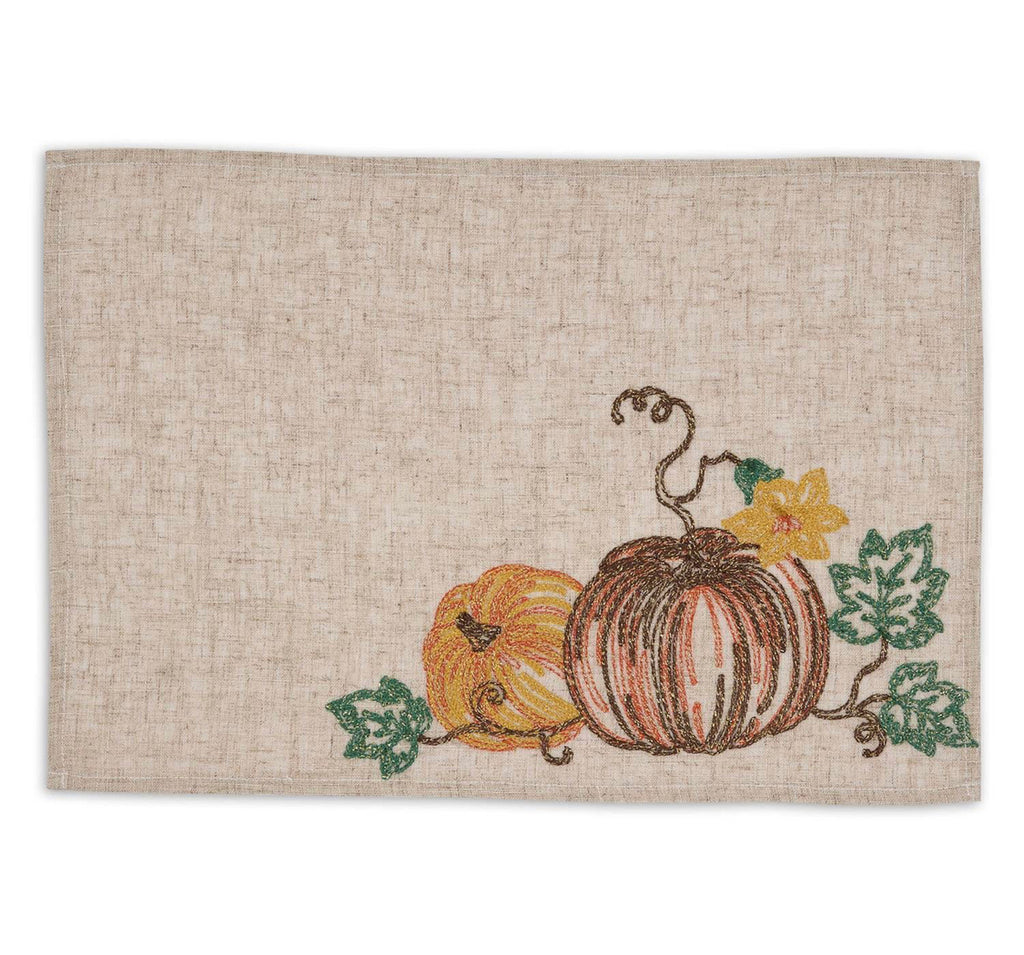 Beaded Pumpkin Placemat - Set of Four