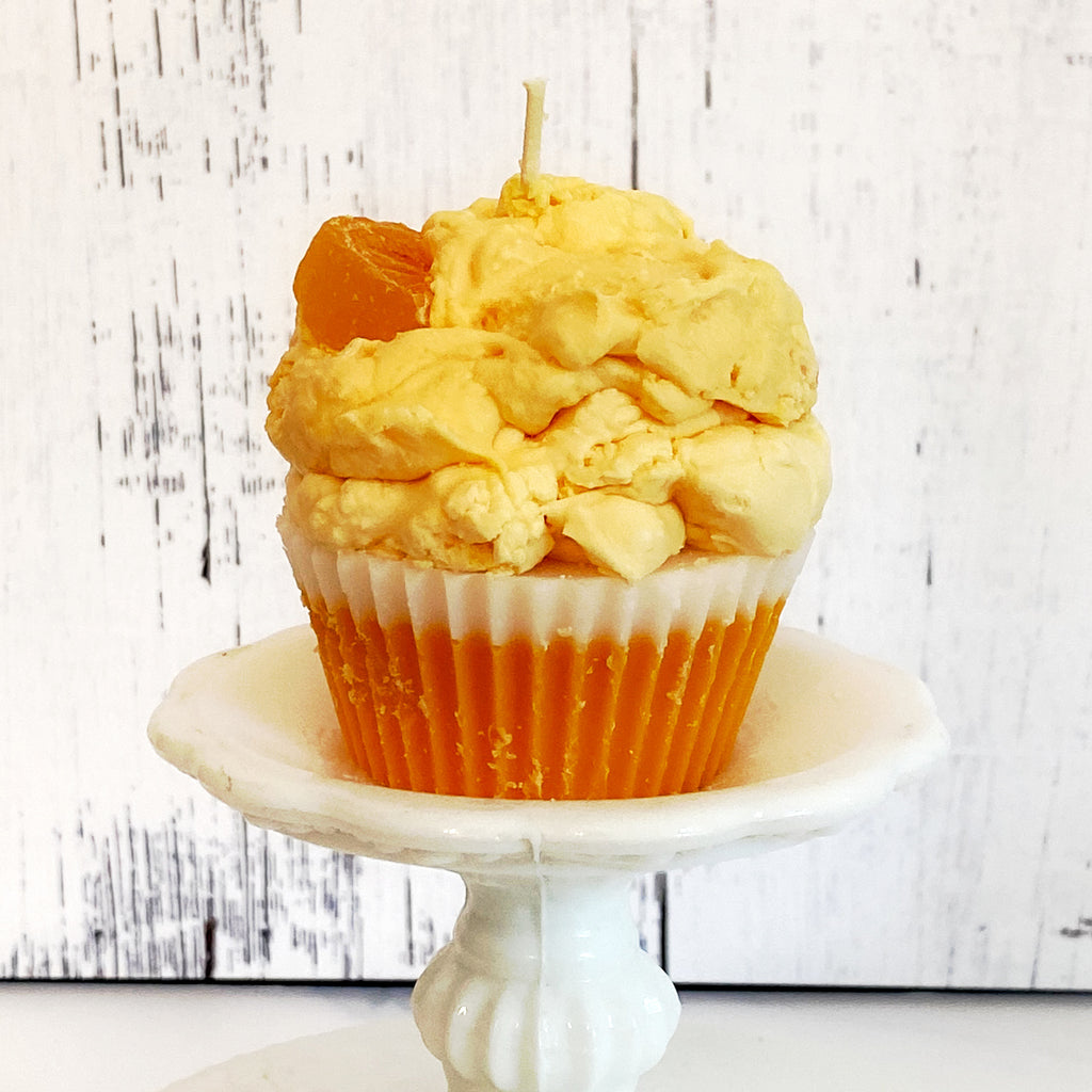 Creamsicle Cupcake Candle