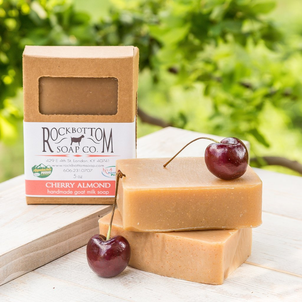 Cherry Almond Goat Milk Soap - Charlie James & Company