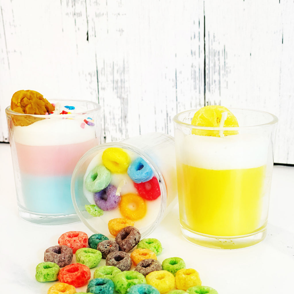 Fruit Loops Shot Glass Candle
