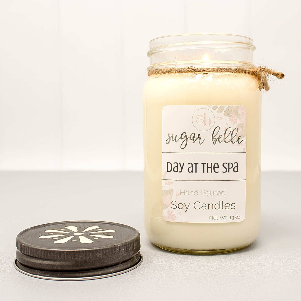 Day at the Spa Mason Jar Soy Candle 16 oz