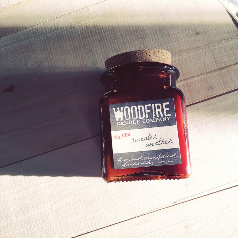 Spiced Citrus Wood Wick Candle