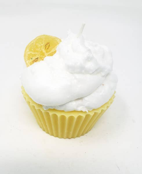 Lemon Pie Cupcake Candle