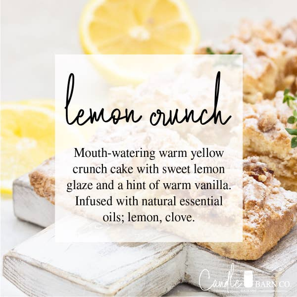 Lemon Crunch Mason Jar Candle 4 oz