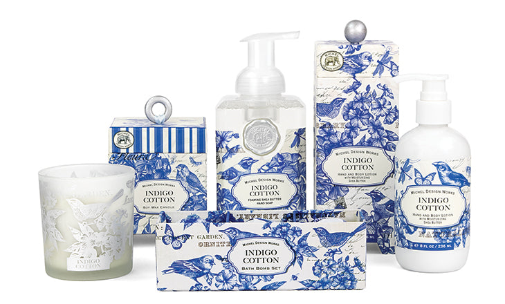Indigo Cotton Bubble Bath