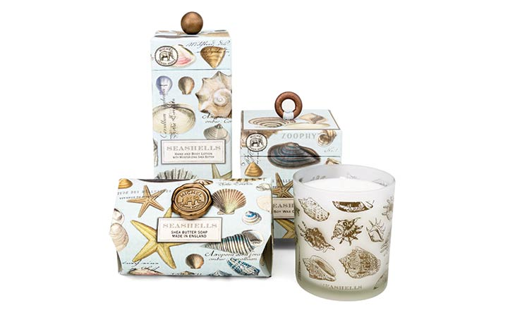 Seashells Travel Candle