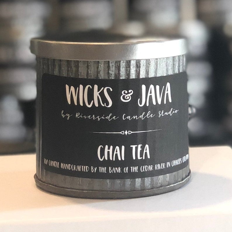 Chai Tea Coffehouse Rustic Candle