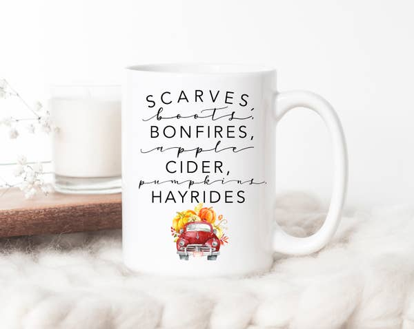 Scarves Boots Bonfires Apple Cider Mug