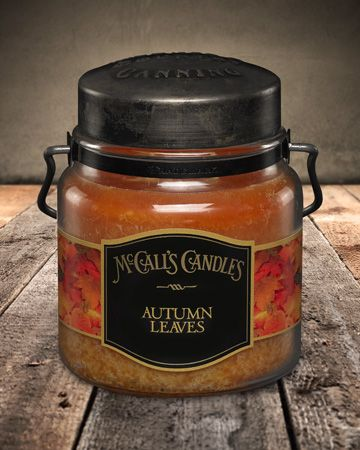 Country Canning Candle Autumn Leaves 16oz - Charlie James & Company