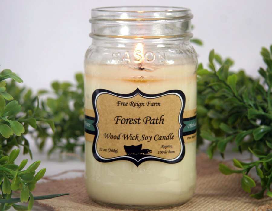 Forest Path Wood & Cotton Wick Candle