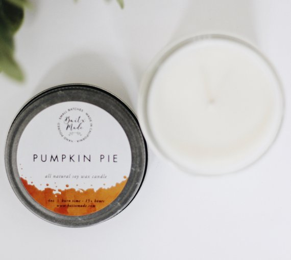 Pumpkin Pie 4 oz Candle - Charlie James & Company