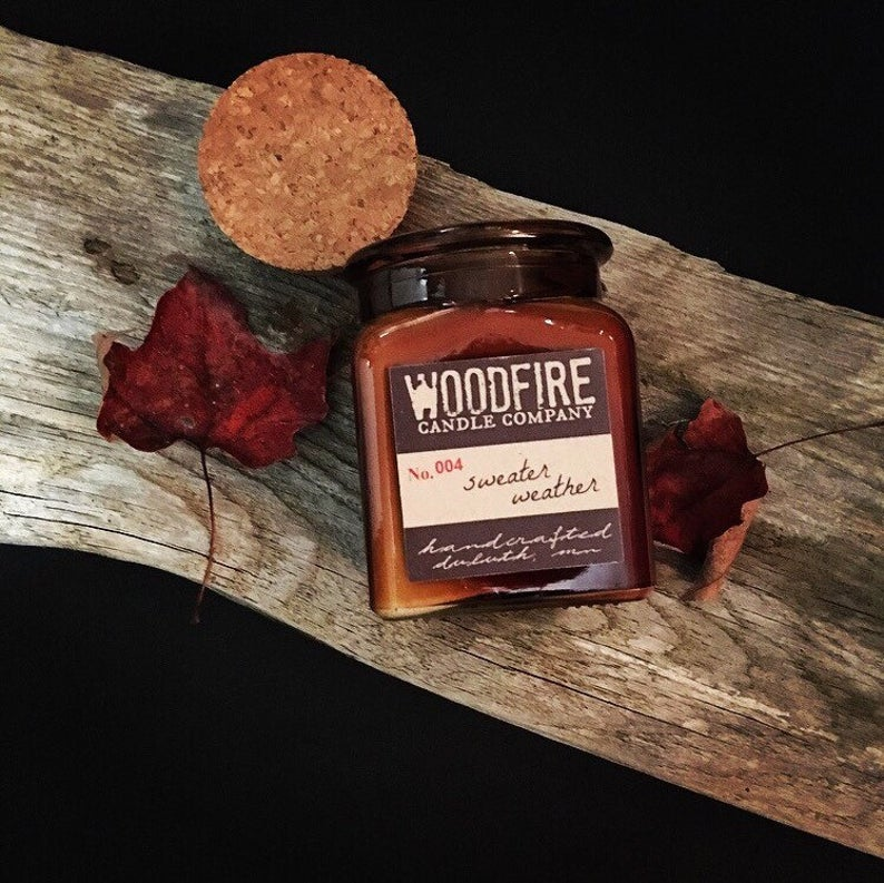 Cozy Cabin Wood Wick Candle