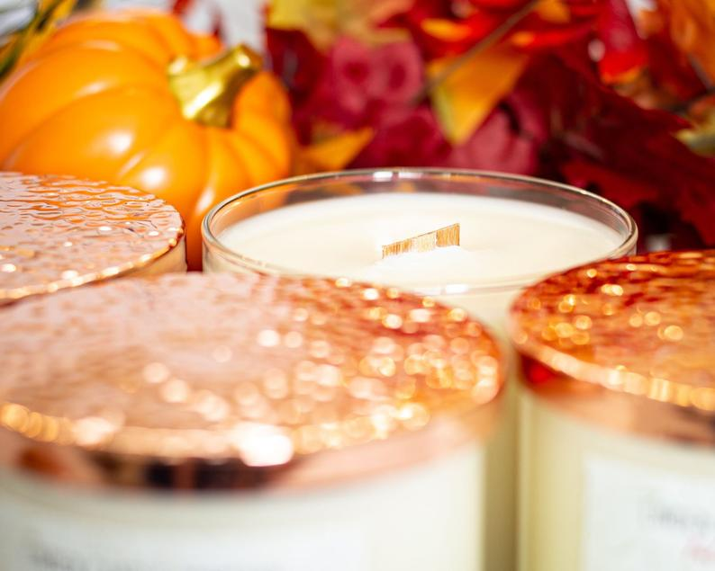 Spiced Chestnut - Wooden Wick Candle