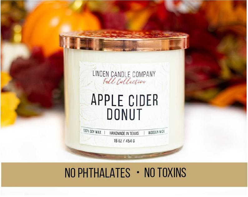 Apple Cider Donut - Wooden Wick - Charlie James & Company