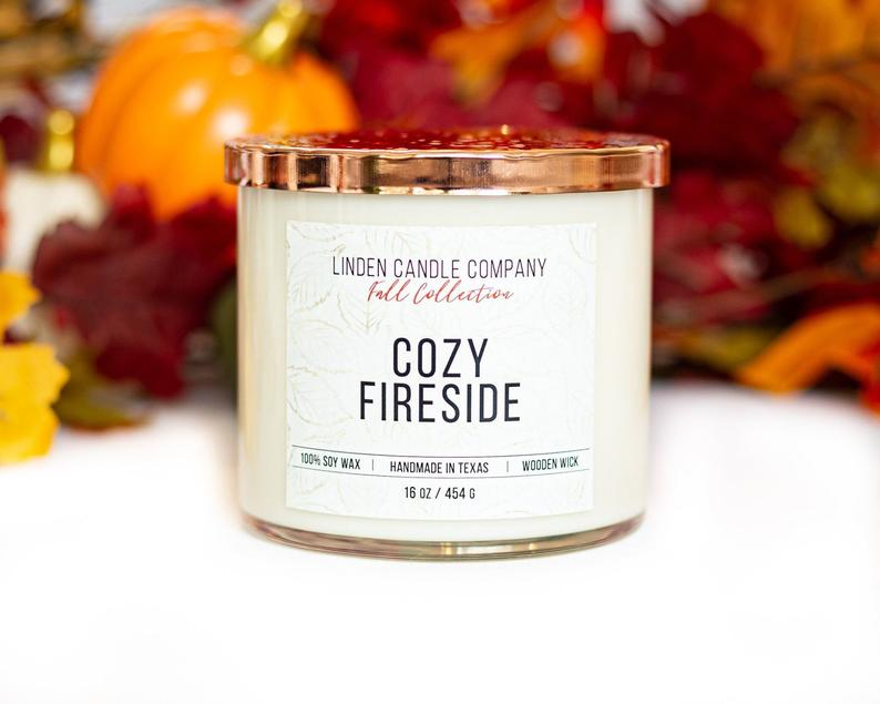 Cozy Fireside - Wooden Wick Candle - Charlie James & Company